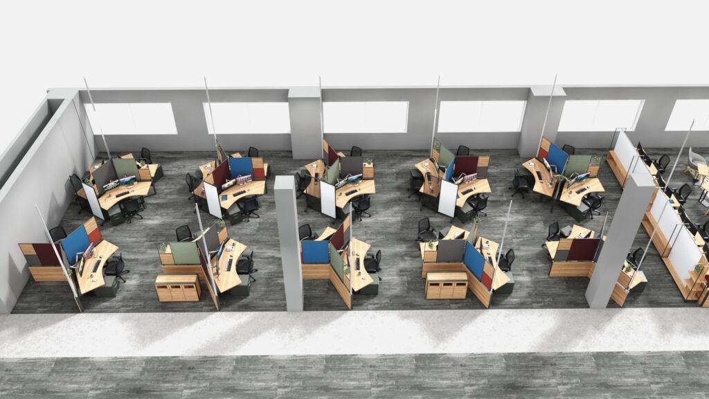 Distanced cubicle concept